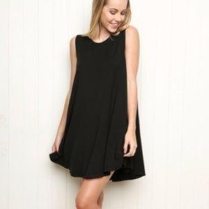 Brandy Melville Alena Swing Dress in Black